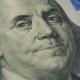 A Portrait of Benjamin Franklin on a Hundred-dollar Bill