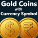 Gold Coin with Currency Symbols - GraphicRiver Item for Sale