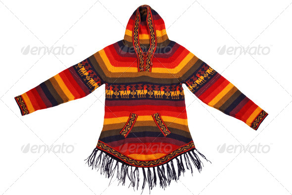 Mexican style knitted jacket - Stock Photo - Images