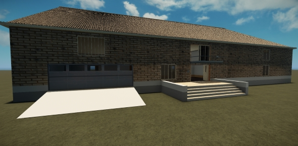 Modern brick cottage - 3DOcean Item for Sale