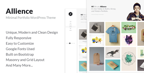 Allience - Minimal Portfolio WordPress Theme.