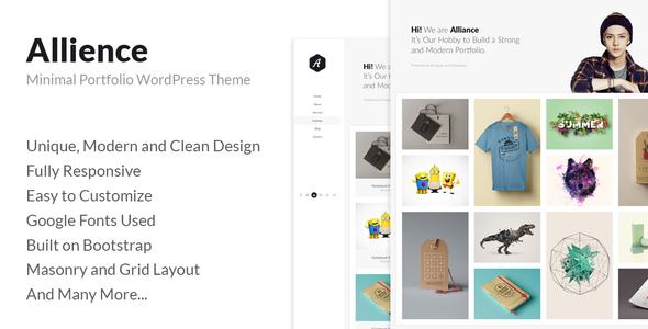 Allience – Minimal Portfolio WordPress Theme.