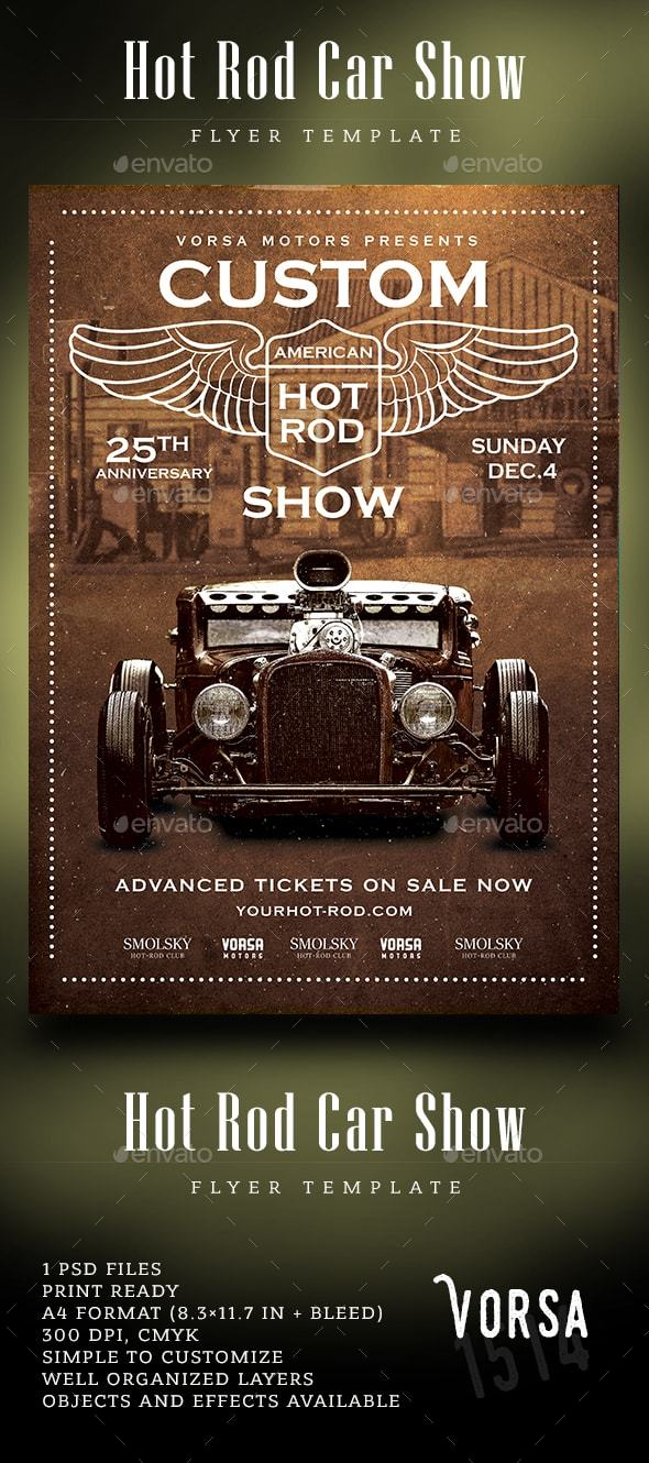 Hot Rod Car Show - Events Flyers