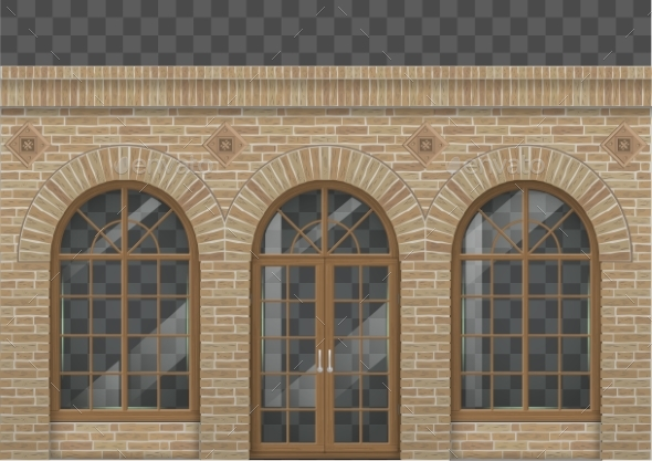Brick Facade with Arches - Buildings Objects