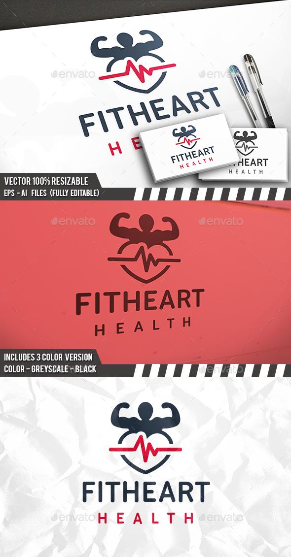 Fitness Health Heart Logo - Humans Logo Templates