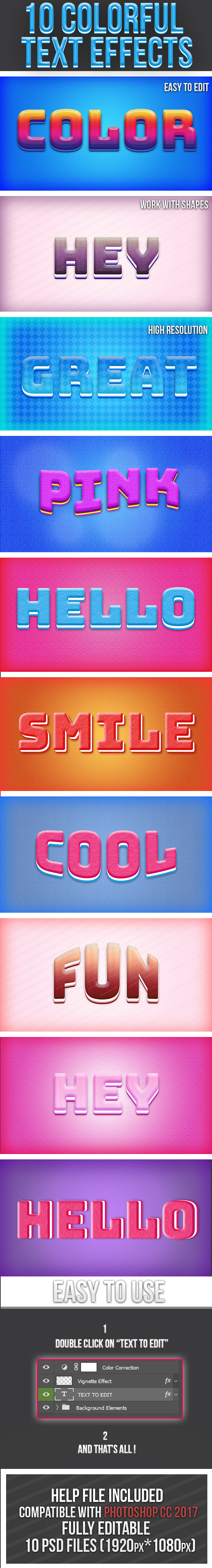 Colorful Text Effects 4 - Text Effects Styles