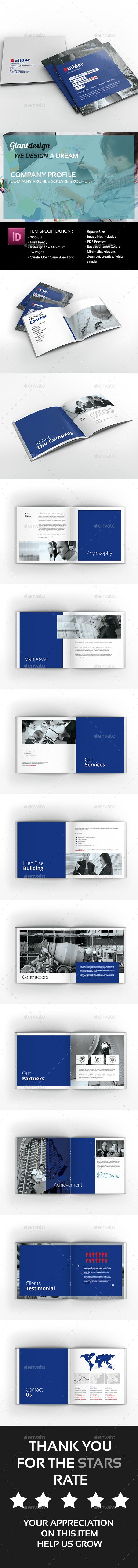 Company Profile Square Brochure - Corporate Brochures