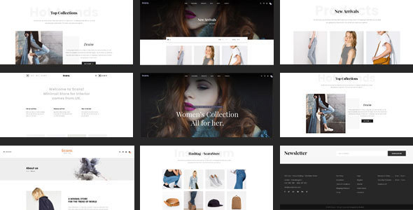 Shopify Theme – Scara – Responsive Drag & Drop