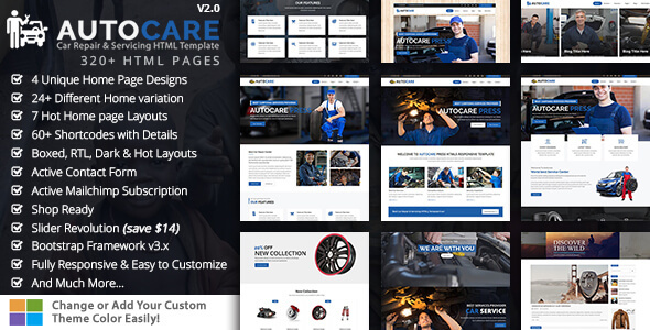 AutocarePress - Car Repair & Servicing HTML Template