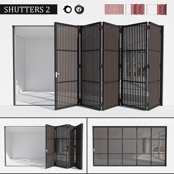 Door shutters - 3DOcean Item for Sale