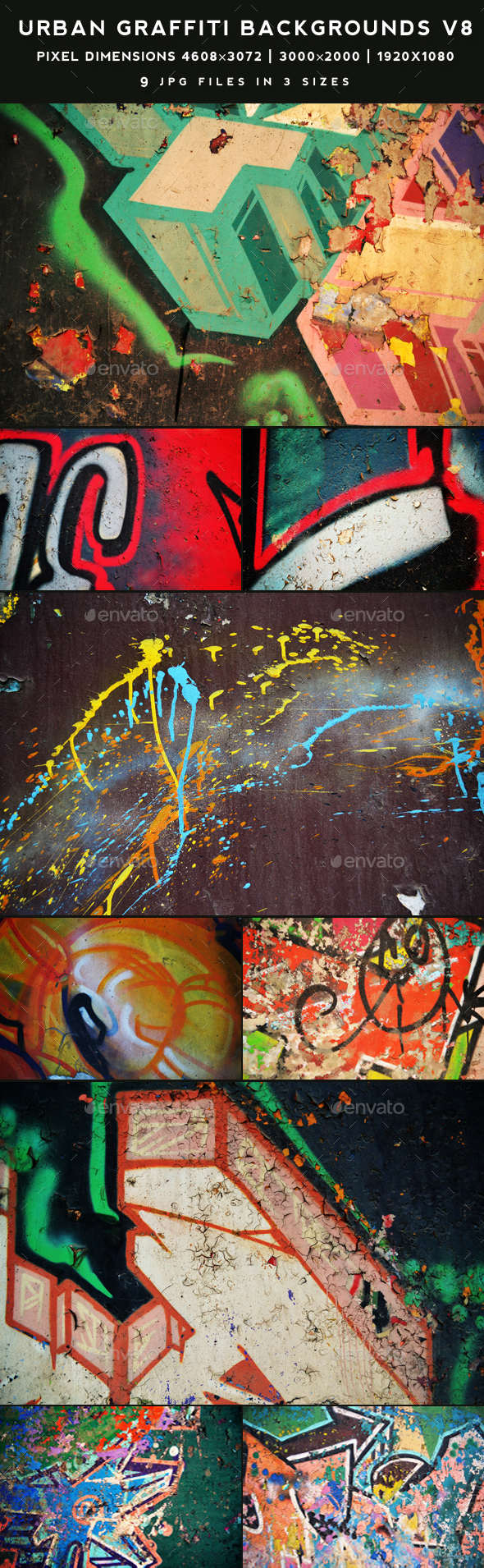 Urban Graffiti Backgrounds v8 - Urban Backgrounds