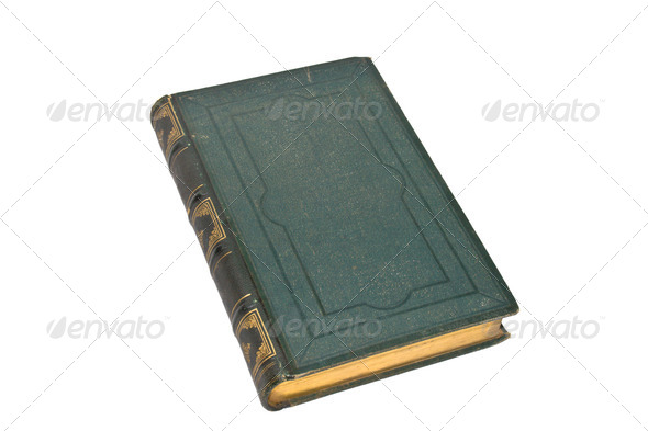 Old green book isolated - Stock Photo - Images