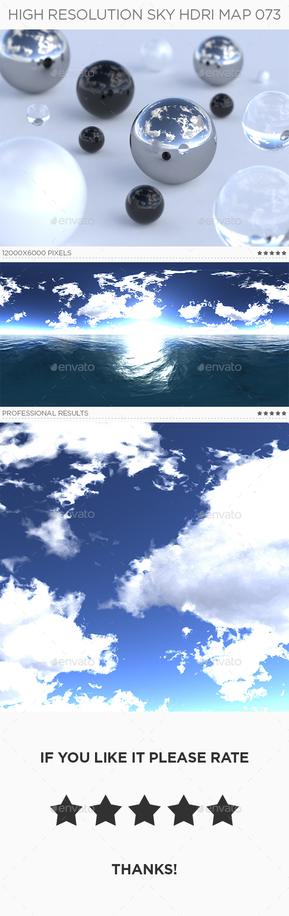 High Resolution Sky HDRi Map 073 - 3DOcean Item for Sale