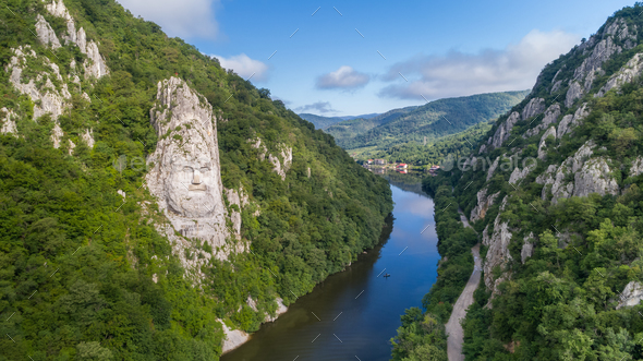Danube Gorges (Cazanele Dunarii) , Romania - Stock Photo - Images