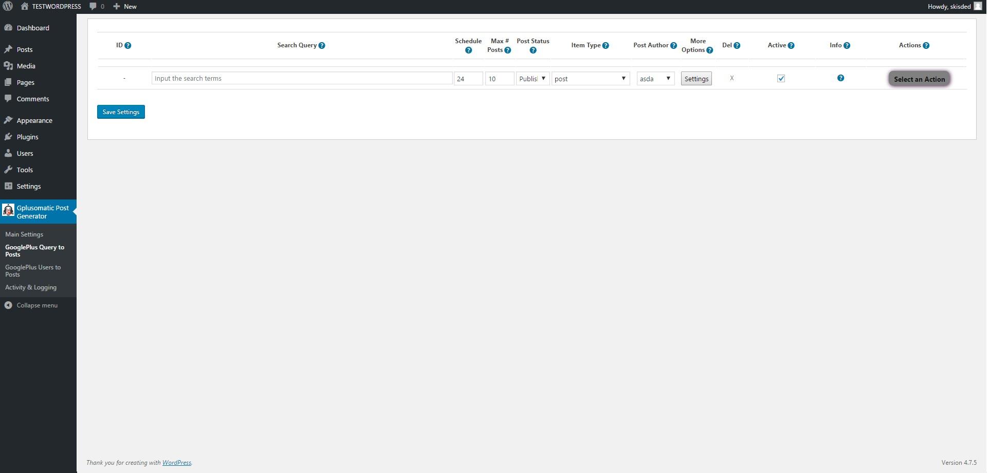 Gplusomatic - Google Plus Automatic Post Generator Plugin for WordPress