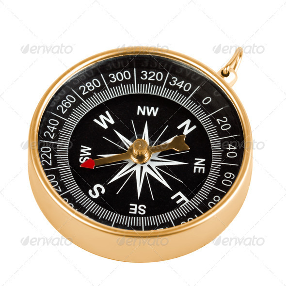 Brass compass - Stock Photo - Images