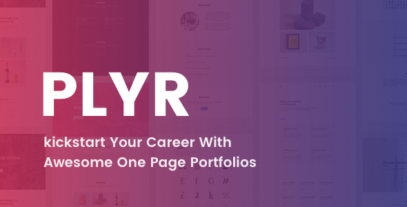 PLYR - One Page Portfolios For Everyone - Portfolio Creative