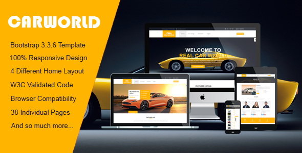 Car World – Car Dealer HTML Template