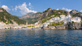 Panoramic view of Amalfi town in Italy