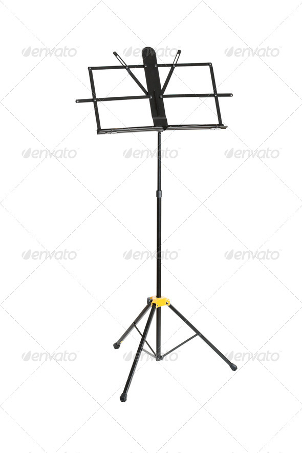 Empty music stand isolated - Stock Photo - Images