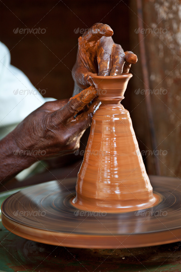 Potter throwing - Stock Photo - Images