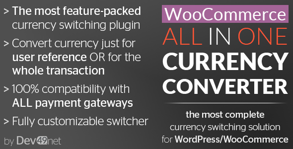 WooCommerce All in One Currency Converter - CodeCanyon Item for Sale