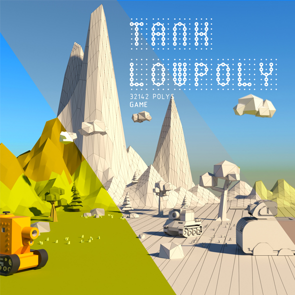 TANK LOWPOLY - 3DOcean Item for Sale