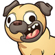 Cartoon Pug - GraphicRiver Item for Sale