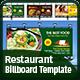 Restaurant Billboard - GraphicRiver Item for Sale