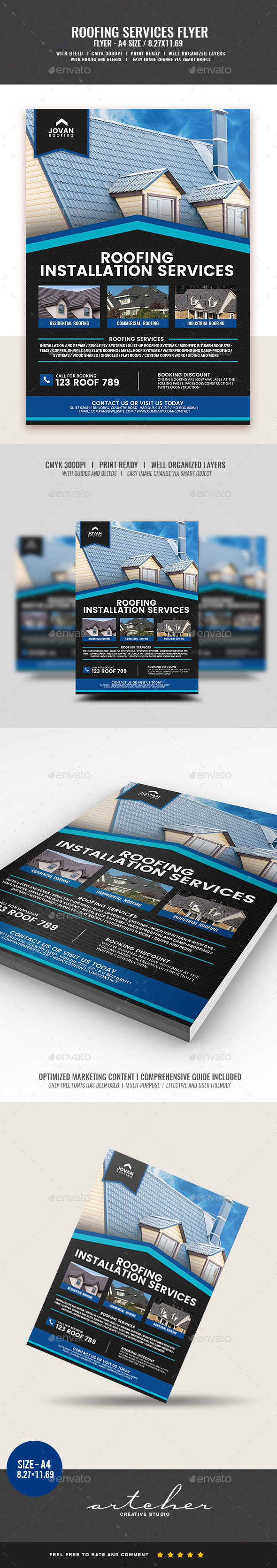Roofing Services Flyer v2 - Corporate Flyers