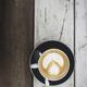 Latte on Wood - PhotoDune Item for Sale