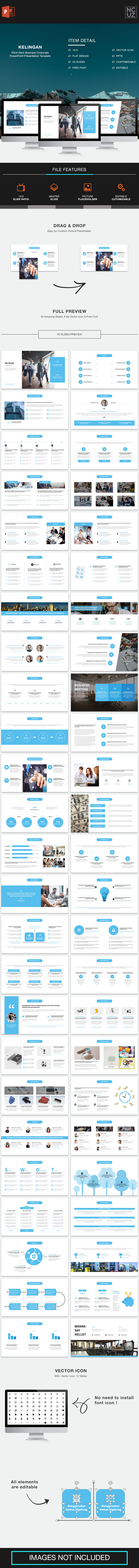 Kelingan Pitch Deck PowerPoint Template - Pitch Deck PowerPoint Templates