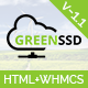 GREENSSD | Multipurpose Technology, Hosting Business with WHMCS Template Nulled