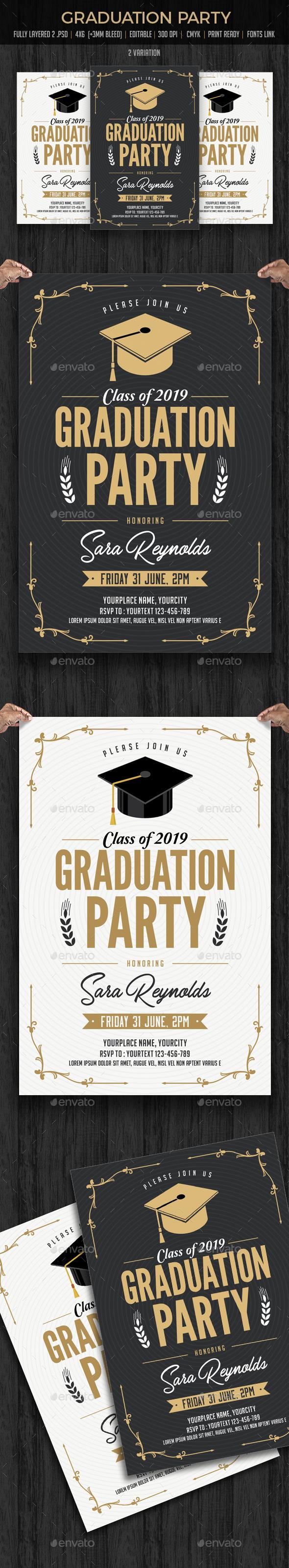 Graduation Invitation - Cards & Invites Print Templates