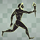 Ancient Greek Runner With Olympic Flame With Alpha - VideoHive Item for Sale