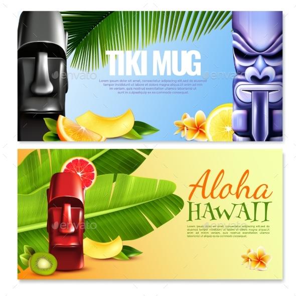 Hawaiian Party Horizontal Banners - Nature Conceptual