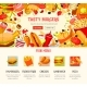 Fast Food Restaurant Lunch Menu Web Banner Design - GraphicRiver Item for Sale