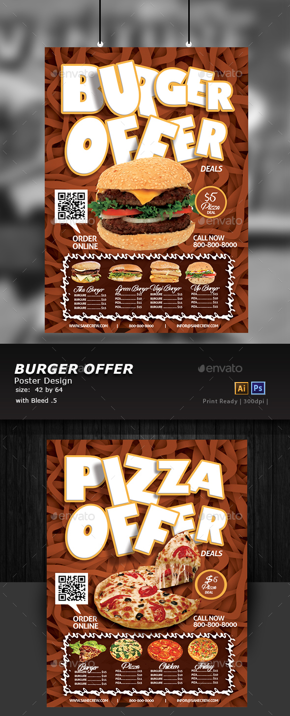Restaurant Fast Food Poster - Flyers Print Templates
