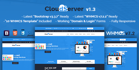 CloudServer | Responsive HTML5 Technology, Web Hosting and WHMCS Template - Hosting Technology