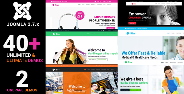 Rise - Responsive Multi-Purpose Creative Joomla Theme