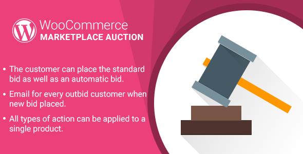 WordPress WooCommerce Marketplace Auction Plugin - CodeCanyon Item for Sale