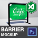 Cafe Barrier / Fence Mockup - GraphicRiver Item for Sale