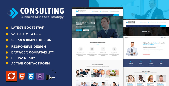 Consulting - Business & Consulting HTML Template
