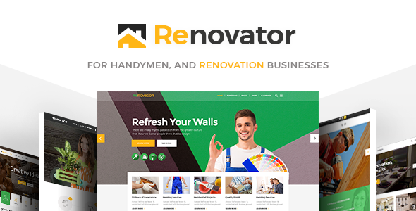 Renovator - Contractors and Renovation Business Theme - Business Corporate