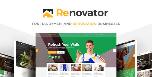 Renovator - Contractors and Renovation Business Theme