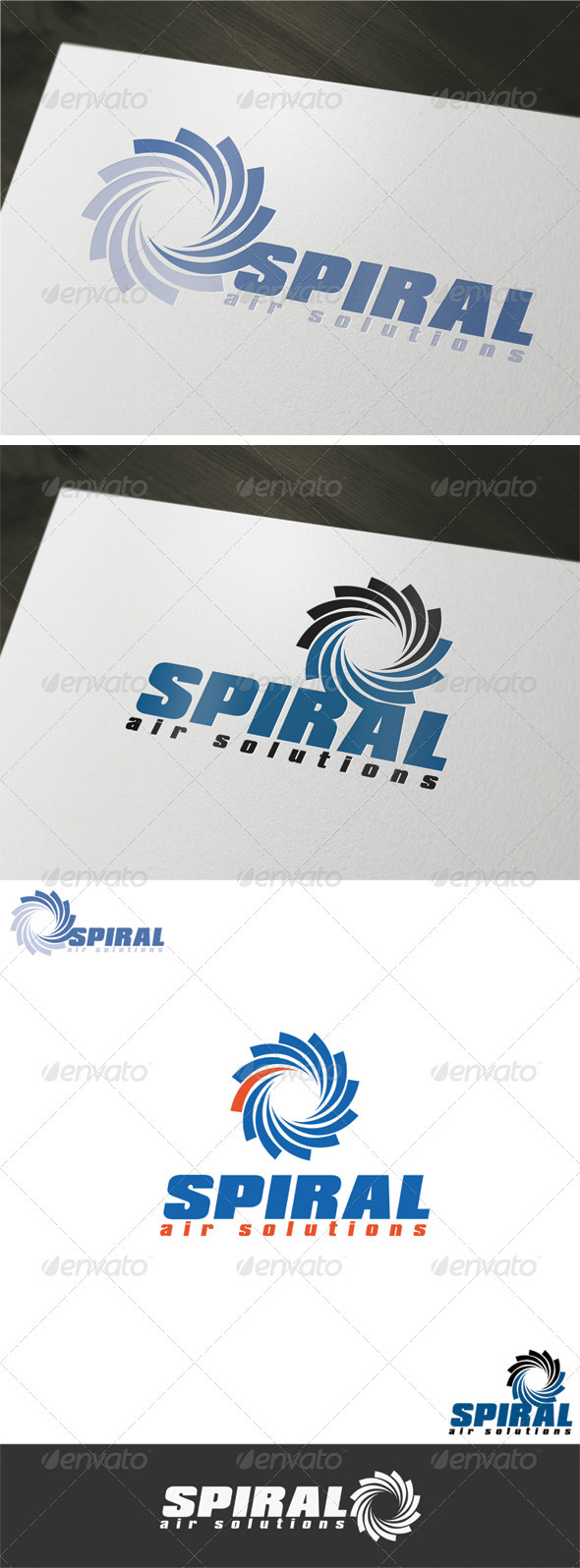 Spiral Air Solutions Logo Template - Vector Abstract