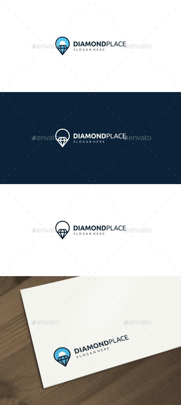 Diamond Place Logo - Objects Logo Templates