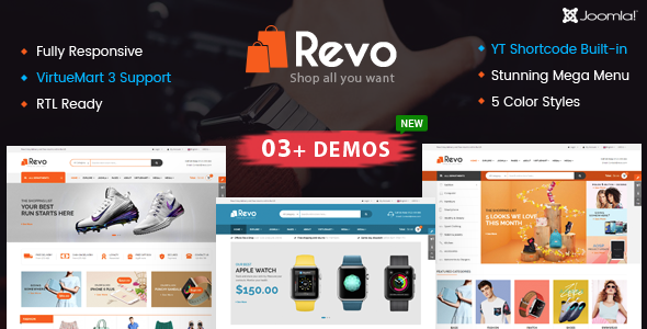 Revo - Multipurpose eCommerce VirtueMart 3 Joomla Template