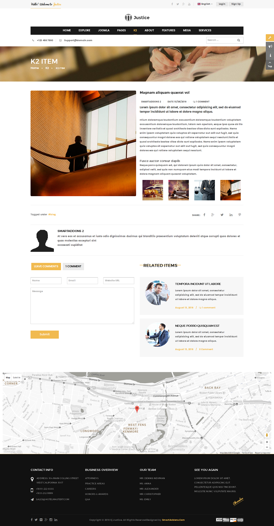 Justice Attorney And Law Firm Joomla Template By