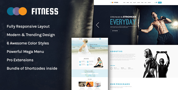 Image of Fitness - Responsive Joomla Yoga Club Template